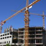Chantier façade, immeuble, construction 2013 grue véhicule